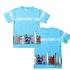 Wes & Willy Boys Light Blue Surf Boards Wrap Around Shirt
