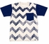 Wes & Willy Boys Navy Blue Chevron Shirt with Pocket