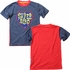 Wes & Willy Boys Navy Blue / Red Super Hero Shirt