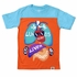 Wes & Willy Boys Orange / Blue Lungs & Learn Body Parts Tee Shirt
