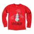 Wes & Willy Boys Red Sno-Bot Snowman Robot Shirt