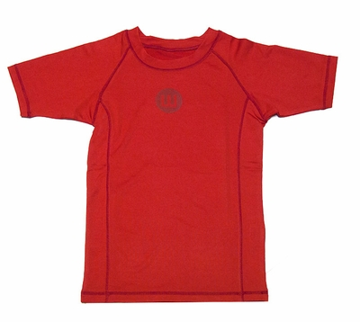 Wes & Willy Boys Sun Safe Rash Guard Shirt - Bright Red
