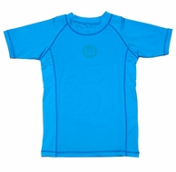 Wes & Willy Boys Sun Safe Rash Guard Shirt - River Blue