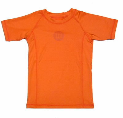Wes & Willy Boys Sun Safe Rash Guard Shirt - Tangerine