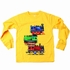 Wes & Willy Boys Yellow Gold Choo Choo Trains Shirt