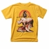 Wes & Willy Boys Yellow Gold T-Shirt - Wildlife Jungle Animals