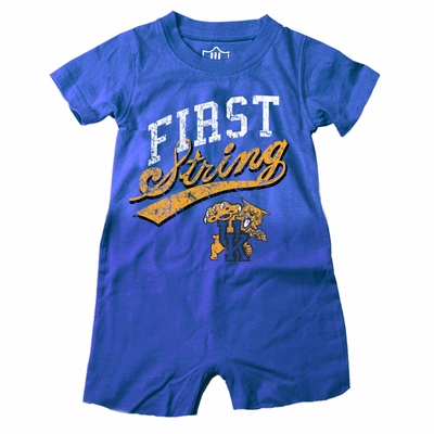 Wes & Willy Collegiate Baby Boys Romper - First String - Blue Univ. of Kentucky UK