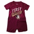 Wes & Willy Collegiate Baby Boys Romper - First String - FSU Florida State Seminoles