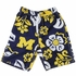 Wes & Willy Collegiate Boys Floral Swim Trunks - Blue / Yellow Univ of Michigan