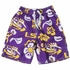 Wes & Willy Collegiate Boys Floral Swim Trunks - Purple / Yellow LSU Tigers