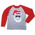 Wes & Willy Collegiate Boys Gray / Red Santa Claus Shirt - Ole Miss