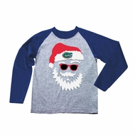 Wes & Willy Collegiate Boys Gray / Blue Sleeved Santa Claus Shirt - Univeristy of Florida Gators