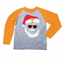 Wes & Willy Collegiate Boys Gray / Orange Sleeved Santa Claus Shirt - Tennessee Vols