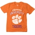Wes & Willy Collegiate Boys Orange Clemson Tigers Paw Logo Shirt