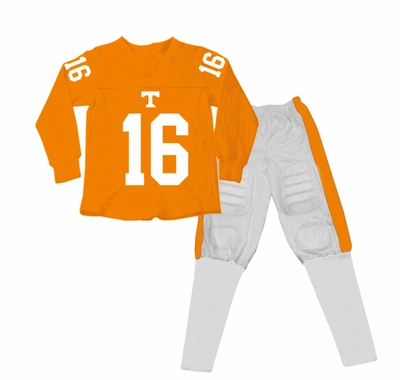 Wes & Willy Collegiate Boys Orange Football Pajamas - Univ. of Tennessee