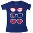 Wes & Willy Collegiate Girls Red Ole Miss Sunglasses Shirt