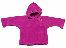 Widgeon Girls Fleece Jacket Coats - Dotted Ribbon - Hot Pink Fuchsia