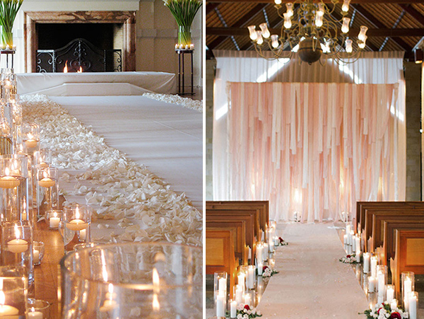 Top 5 ways to decorate your wedding aisle for Wedding walkway