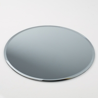 "Six 12"" Beveled Round Glass Table Centerpiece Mirrors"