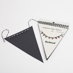 Chalkboard Triangle Pennant Banner (24 pennants) 13ft Set of 6 - Click to enlarge