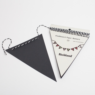 Chalkboard Triangle Pennant Banner (24 pennants) 13ft Set of 6
