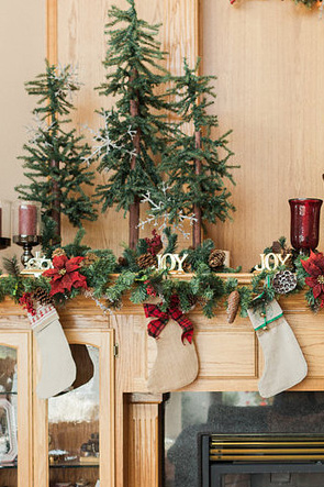 Christmas Mantel Decorations Christmas Stockings
