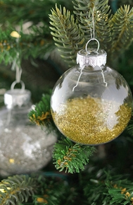 Clear Glass Ornament Balls - Click to enlarge