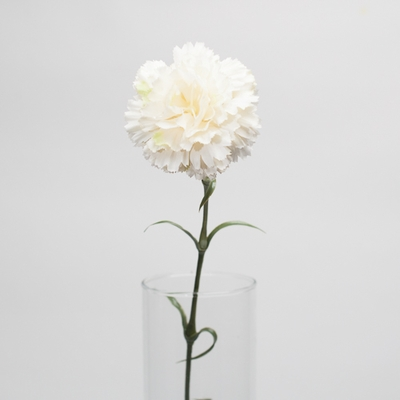 Cream White Silk Carnation Flowers