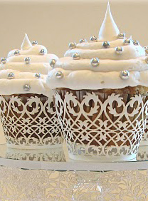 Lace Cupcake Wrappers, Liners