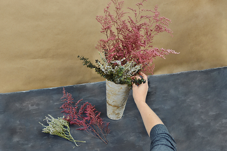 Diy dried flower arrangement for Dried flowers for crafts