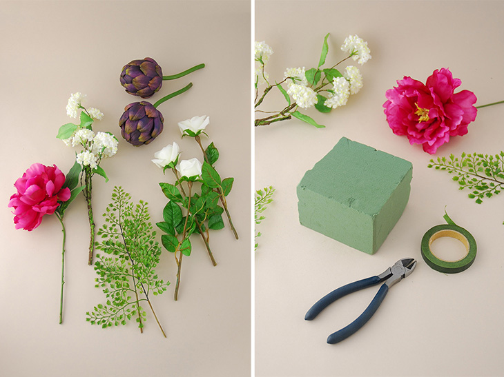 Diy Flower Arranging Basic Flower Arrangements Save On