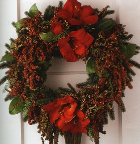 DIY: How to Make a Wreath - Click to enlarge