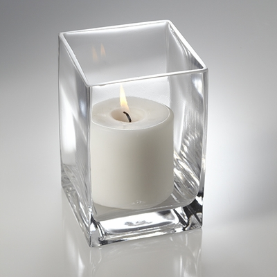 Square vases rectangle vases cube vases for Long rectangular candle tray