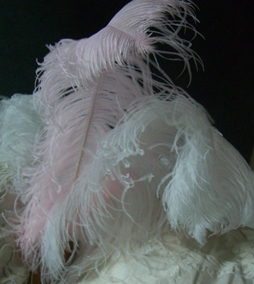 White artificial peacock 55in for Synthetic feathers for crafts