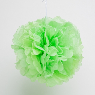 Tissue Paper Pom Poms Green 14in- Pack of 10