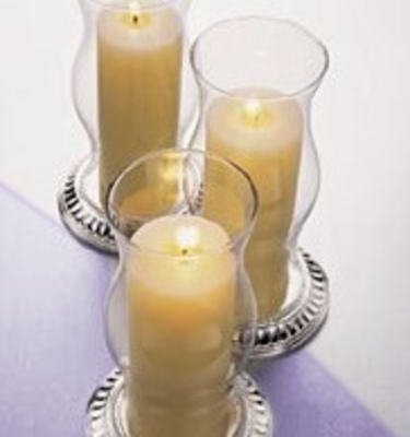Glass candle shades, luminarias, bases & candle holders