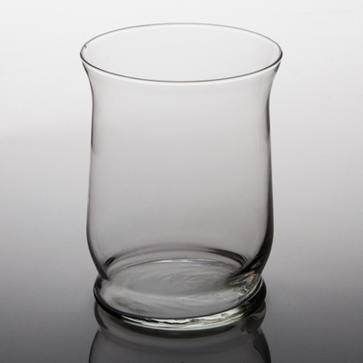 Glass Hurricane Vase & Candleholder 6""