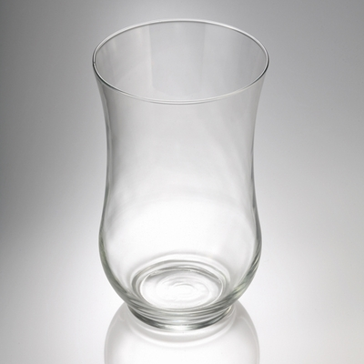 "10.5"" Glass Hurricane Vase & Candle Holder Set of 2"