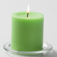 Pillar Candles 3 Inch Green (12 candles)