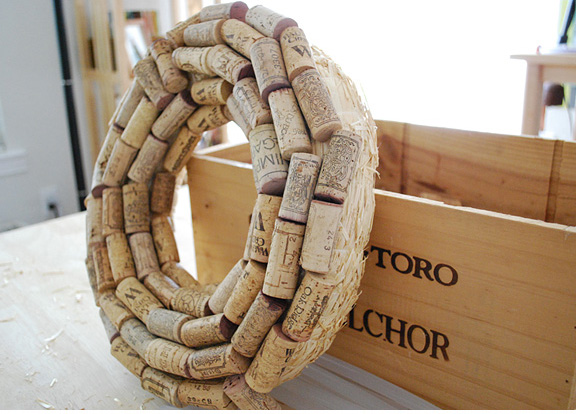 How to Make a Cork Wreath