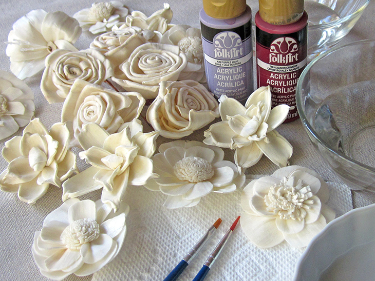 how to change the color of silk flowers