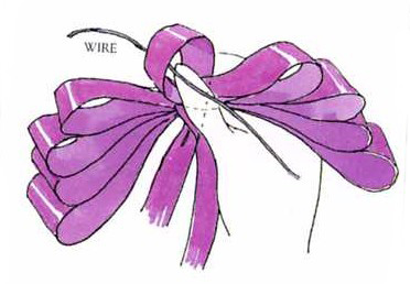 How to tie a bow - How to make a triple floral bow