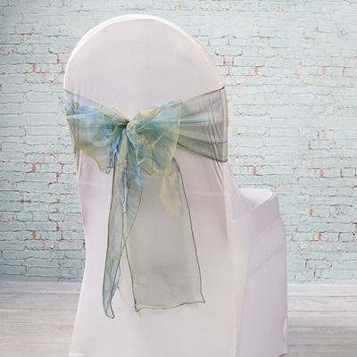 "10 Hunter Green Organza Chair Sashes 7"" Wide"
