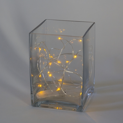 LED String Light Warm Amber 7ft - 20ct Set of 12