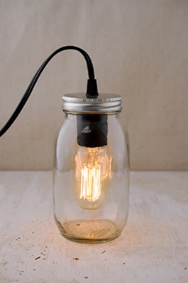 Lighted Mason Jars