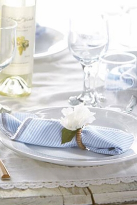 Napkin Rings, Napkins and Candle Rings