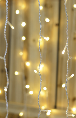 backdrop curtain lights - Netted Christmas Lights