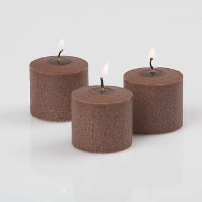 72 Brown Votive Candles Cinnamon Bun Scented