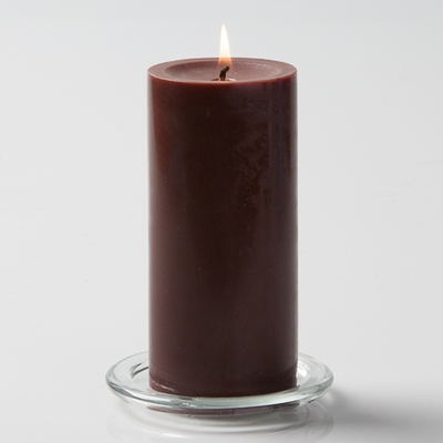Brown Large 3in Pillar Candles