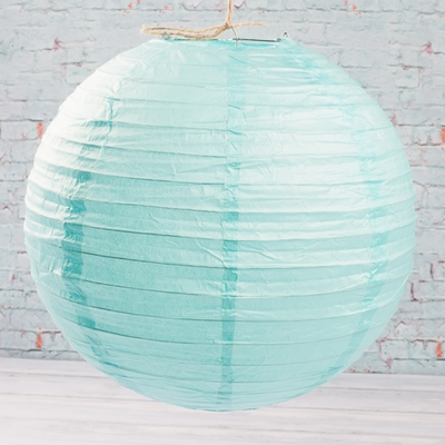 Paper Lanterns 12in  Ice Blue, Capri Blue (Pack of 10)